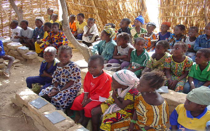 photo of school children in Burkina Faso