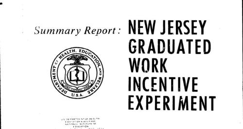 NJ Graduated Work Incentive Experiment