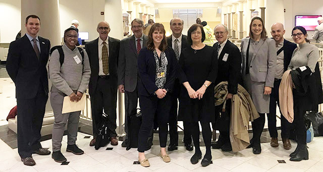 Ronette, fifth from right, attends a Senate hearing in Annapolis with fellow researchers.