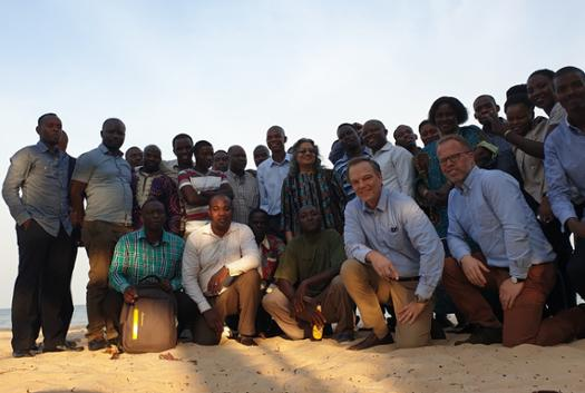The EDI and Mathematica teams after dinner along the shores of Lake Victoria.
