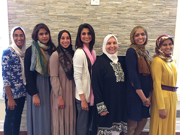 Samina Sattar (second from the right) with her fellow speakers in the New Jersey chapter of the Islamic Networks Group