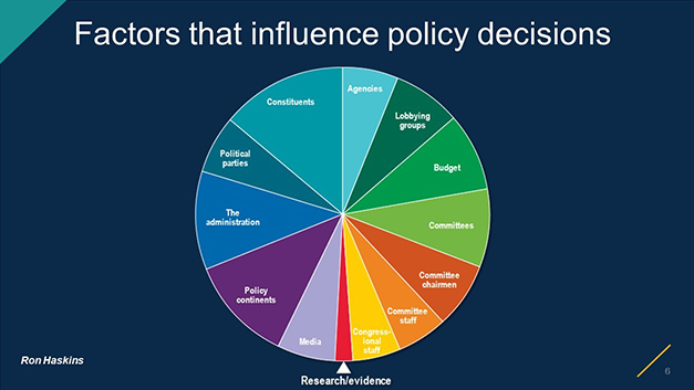 Factors that influence policy decisions pie chart