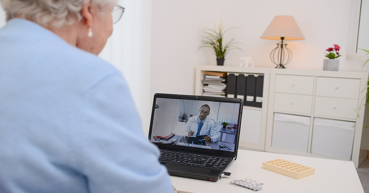 Woman on a Telehealth call with doctor