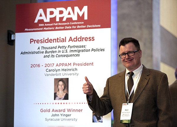 Mathematica's Matt Stagner Selected President-Elect of the Association for Public Policy Analysis and Management