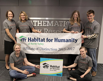 Ann Arbor office displays Habitat for Humanity sign