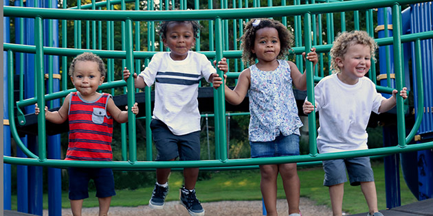 Young children at playground