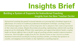 Instructional Coaching Insights Brief