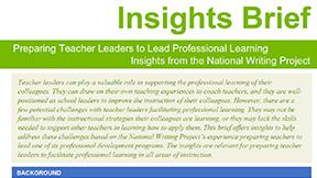 Insights Brief: Preparing Teacher Leaders