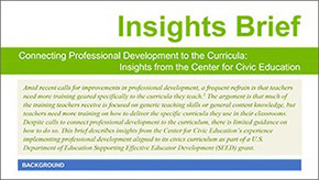 SEED Insights - Connecting Professional Development to the Curricula