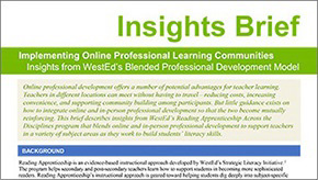 SEED Insights - Implementing Online Professional Learning Communities