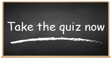 Chalkboard with the words take the quiz now