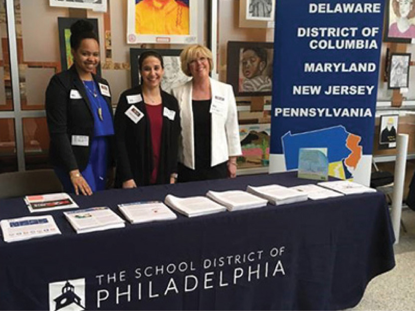 Diana McCallum, Felicia Hurwitz, and Cheryl Behany represented REL Mid-Atlantic at the 2018 Research to Practice Conference.