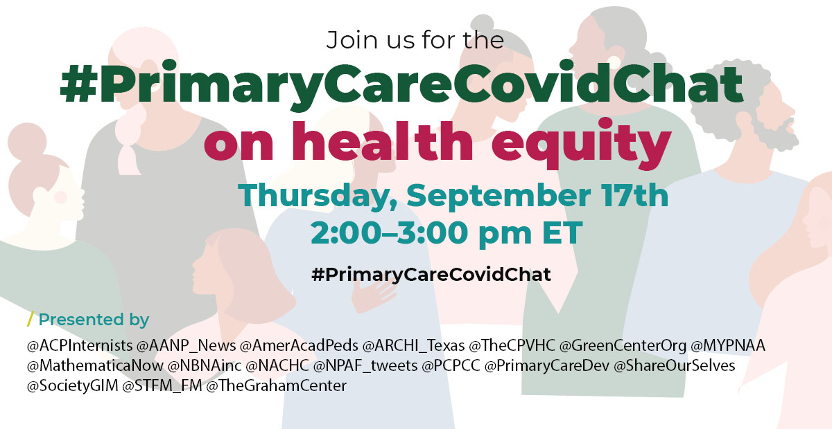 Primary Care Covid Twitter Chat on Health Equity