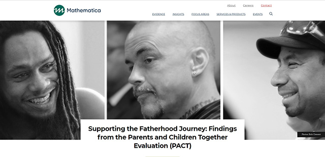 Screenshot of Supporting the Fatherhood Journey: Findings from the PACT Evaluation