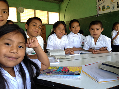 Students in classroom in Hondoras