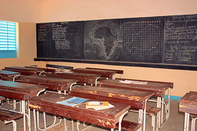 classroom in Niger