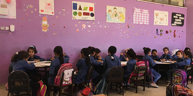 Children in Jordanian Classroom