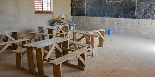classroom in Africa--third-world country school