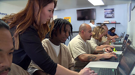 One of the grant-funded American Job Centers at the East Mesa Reentry Facility in San Diego County, California.(Photo used with permission from the San Diego County Sherriff's Office)