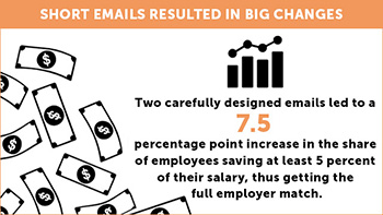 graphic for short emails resulted in big changes