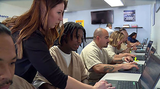 One of the grant-funded American Job Centers at the East Mesa Reentry Facility in San Diego County, California. (Photo used with permission from the San Diego County Sherriff's Office)