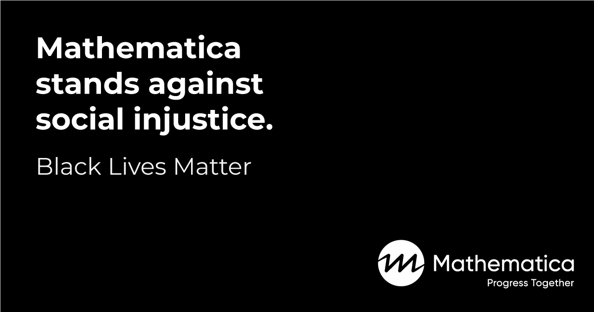 Mathematica stands against social injustice. Black Lives Matter