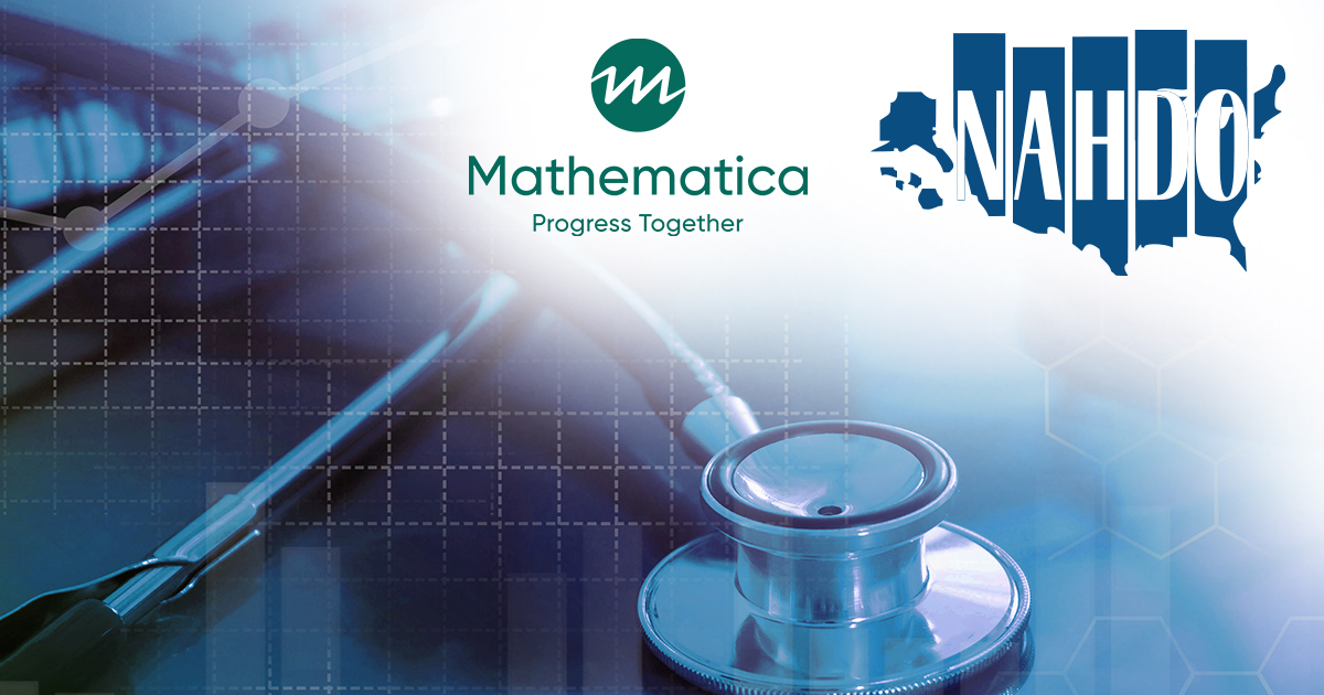 Mathematica and NAHDO logos in the top right of a photo of a stethoscope.