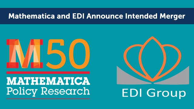 Mathematica and EDI logos: Mathematica and EDI Announce Intended Merger