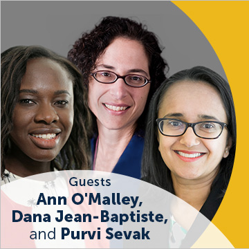 On the Evidence: A Mathematica Podcast; Guesdt: Ann O'Malley, Dana Jean-Baptiste, and Purvi Sevak