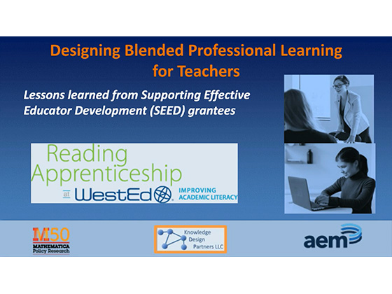 Designing Blended Professional Learning for Teachers